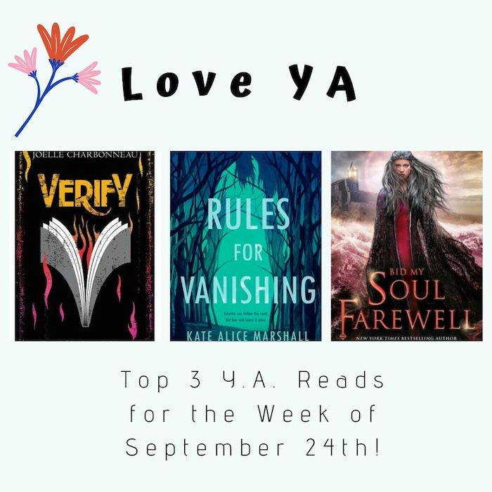 Love YA: Top 3 Y.A. Reads for the Week of September 24th!