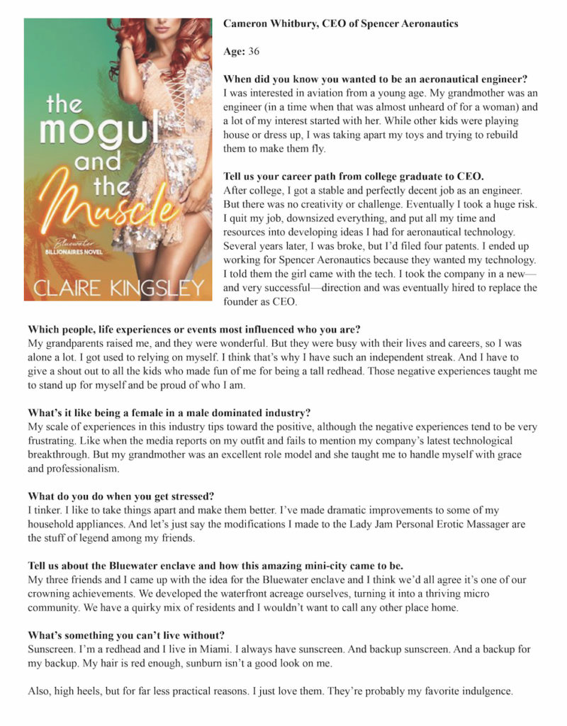 Mogul and the Muscle by Claire Kingsley