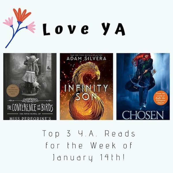 Love YA: Top 3 Y.A. Reads for the Week of January 14th!