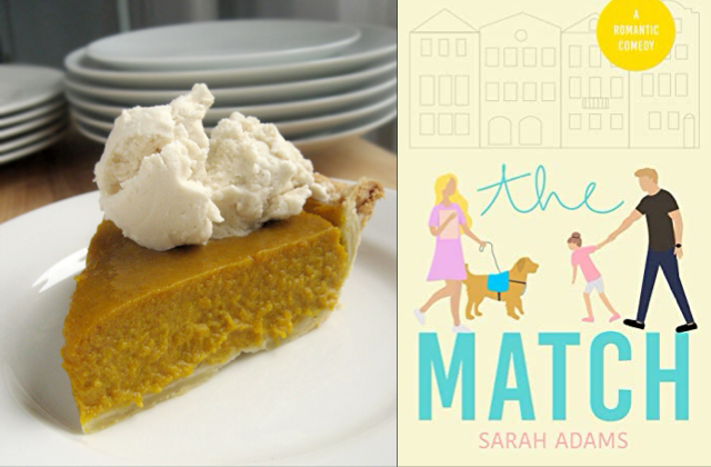 Pumpkin Pie paired with The Match by Sarah Adams