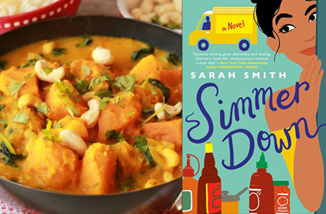Pumpkin curry paired with Simmer Down by Sarah Smith