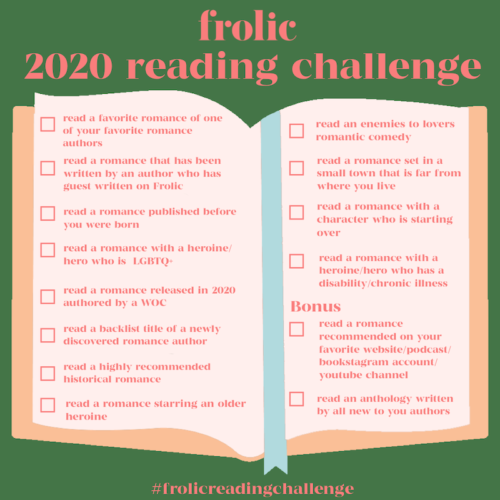 Frolic 2020 Reading Challenge