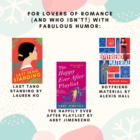 A graphic showing the 3 book covers described under this image.