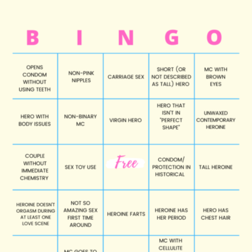 Play along with this fun romance rarities bingo board! Can you score BINGO?